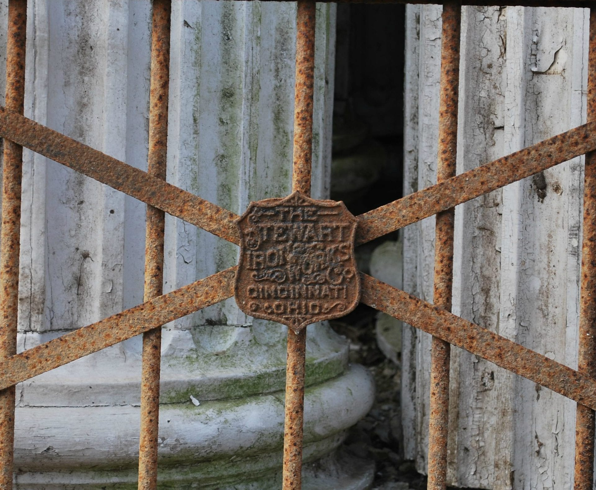 Antique Stewart Iron Works Wrought Iron Gate