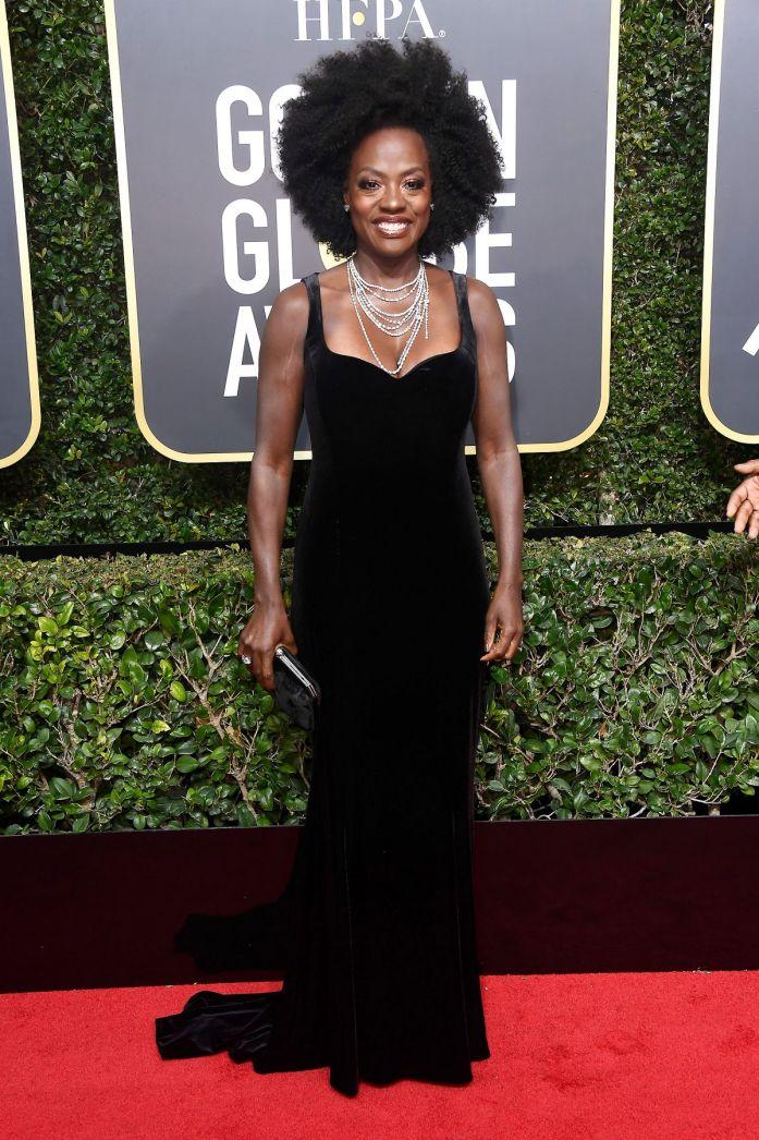 Viola Davis ed i suoi ricci ai Golden Globes 2018