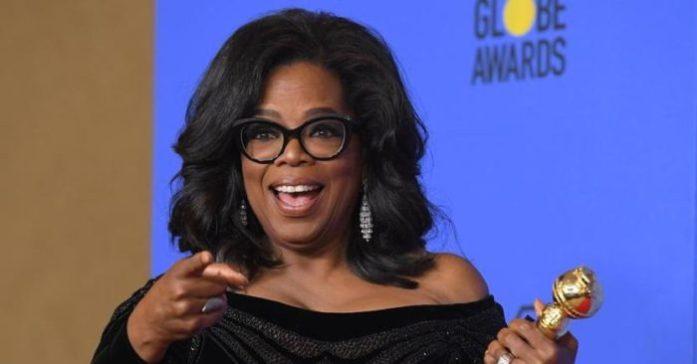 Oprah Winfrey senza ricci ai Golden Globes 2018