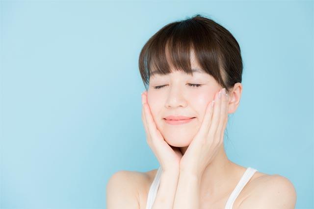 洗顔後の肌
