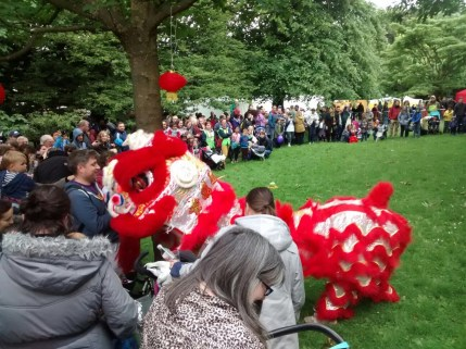 Lion Dance Performance Glasgow Mela 2017