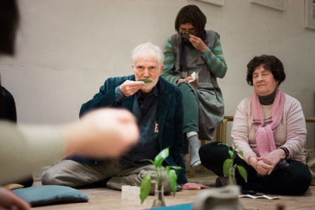 Larry at our Book Week Scotland Tea Ceremony