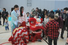 Crowds at the Lion Dance