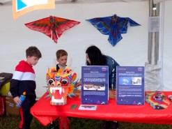 Visitors enjoy the Kite Exhibiton