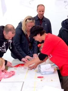 Kite making at Glasgow Kite Festival