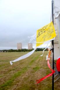 Yellow kite in Bellahouston Park