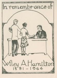 Bookplate Wiley Hamilton