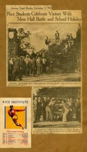 Mary Jane Hale Rommel scrapbook 1936 Gates closed