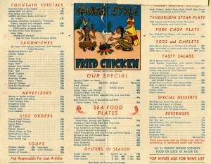 Bill Williams Menu 2