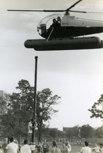 Masterson scrapbook greased pole with helicopter