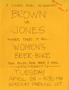 Brown beer bike 1973 flyer