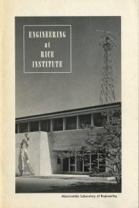 Engineering at Rice Institute December 1959