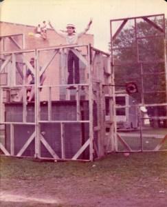 Shakespeare festival 1974 dunking booth Steve Jackson as Nixon