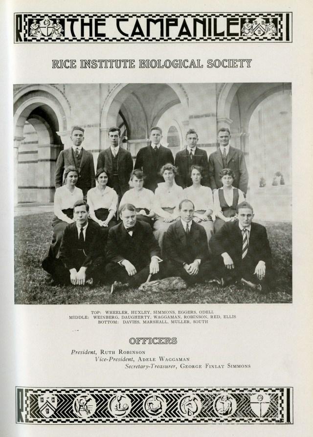 Biology Club 1916