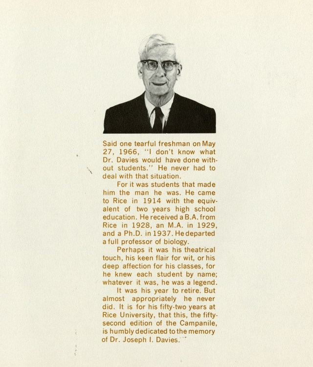 JI Davies 1966 campanile