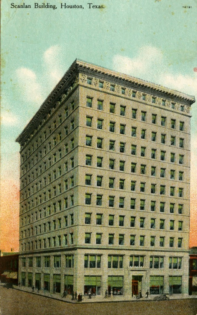 Scanlan Building 1909 Autrey Collection postcard
