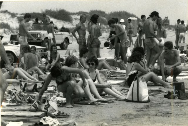 Brown Galvezton beach 1983
