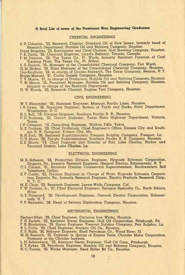 Engineophyte Tau Beta Pi petition 1941 alumni