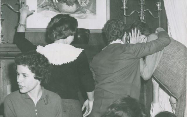 Girls Huddled c1960