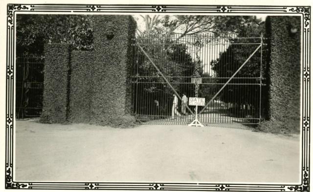 Gate closed c1931
