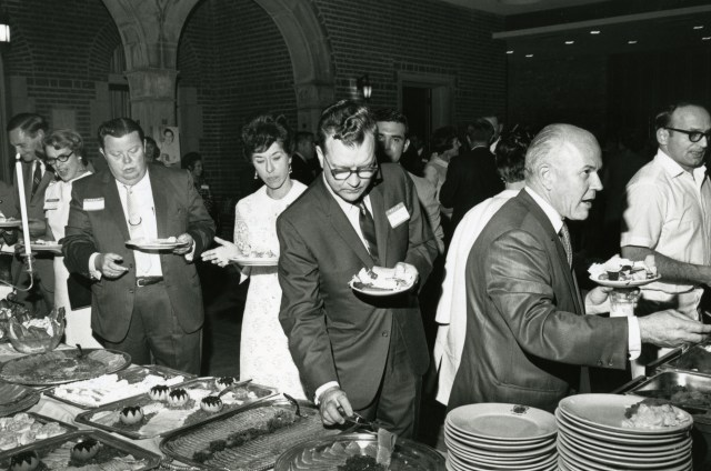 New Homecoming 1968 buffet table