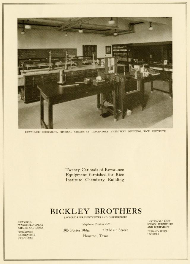 Chemistry Building equipment ad c1927048