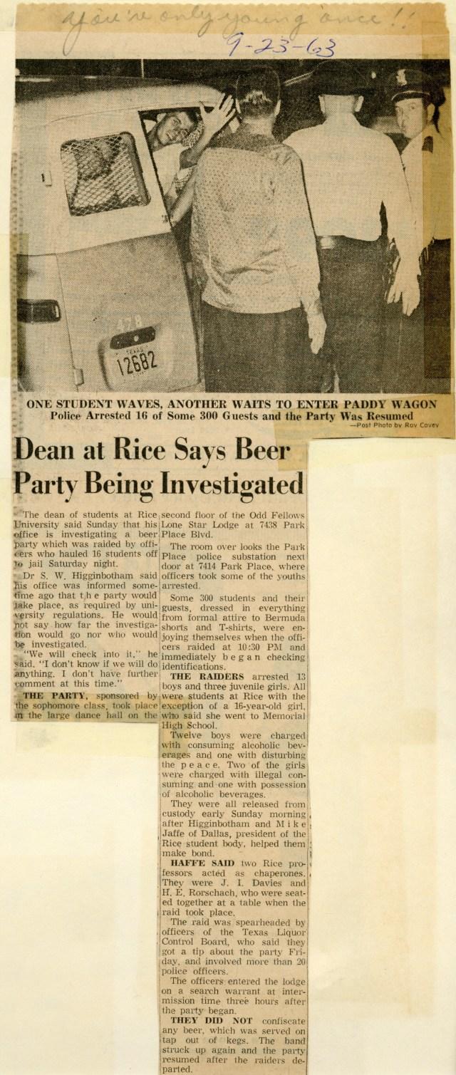 Beer party raid 1963 045