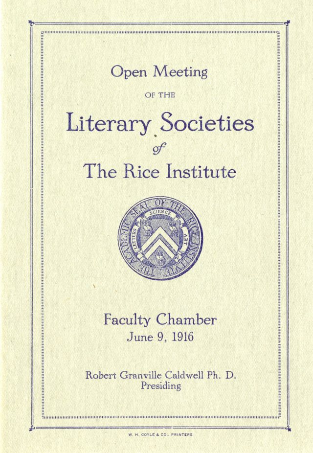 Literary societies 1916 1 045