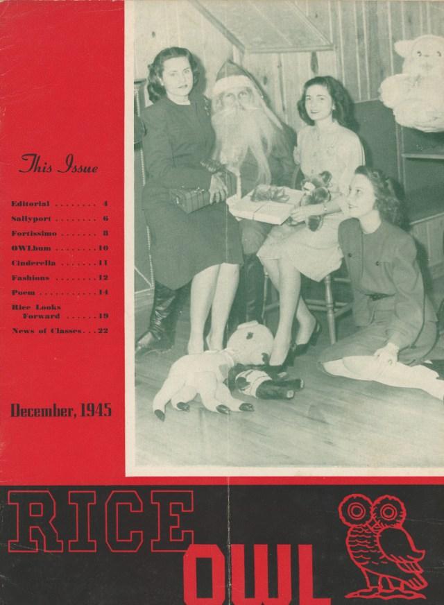Owl Christmas 1945