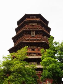 The world's largest wooden pagoda in Datong.