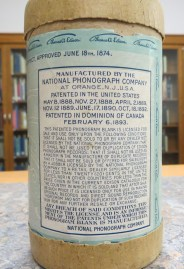 Information over Edison Wax Cylinder, n.d.
