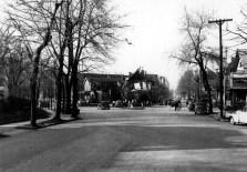 Fire damage at Wood's Drug Store/Haynie's Drugs, 1944.