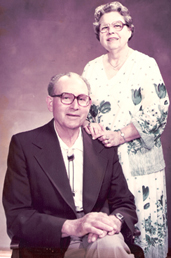 Richard and Helen Rice - founders of the Rice Northwest Museum of Rocks and Minerals - circa 1980s.
