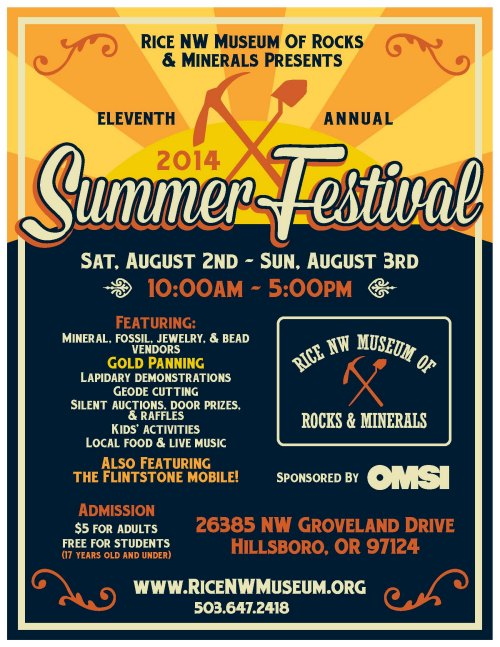 Summer Festival Flyer - Rice Northwest Rock and Mineral Museum-sm.