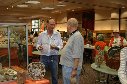 Walt Wright expert on petrified wood - courtesy of North Orange County Gem and Mineral Society.