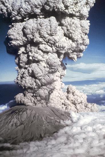 Mount St. Helens Eruption - credit Simple English Wikipedia.
