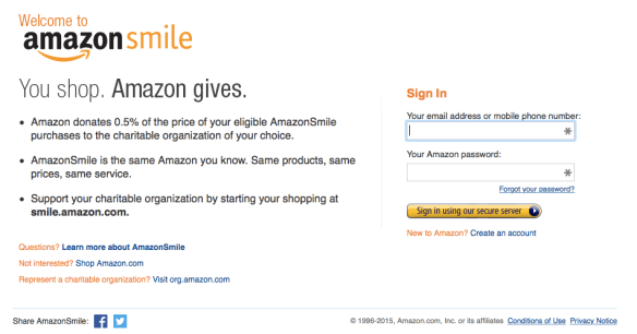 Amazon Smile Login