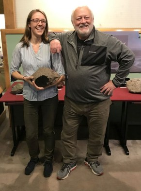 Rice NW Museum Curator Leslie Moclock and meteorite dealer Edwin Thompson