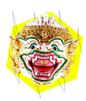 Khon Mask Thailand