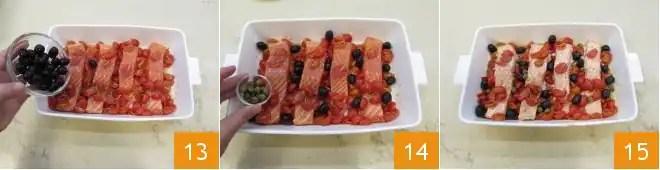 filetes de salmón al Mediterráneo