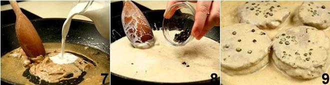 Lomo a la pimienta verde