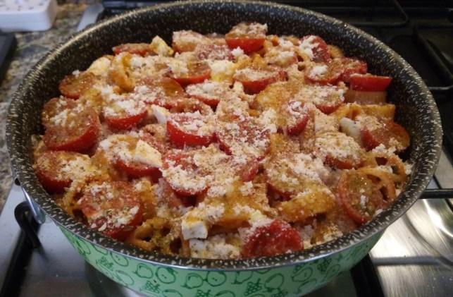 Pasta al forno light con pomodoro e primo sale - prep