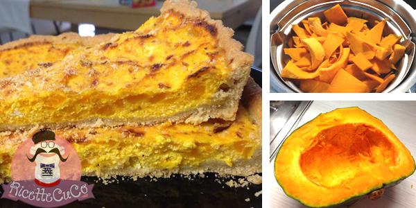 Torta rustica salata con brisèe integrale, zucca gialla e ricotta con il Cuisine Companion ricettecuco ricette cuco bimby