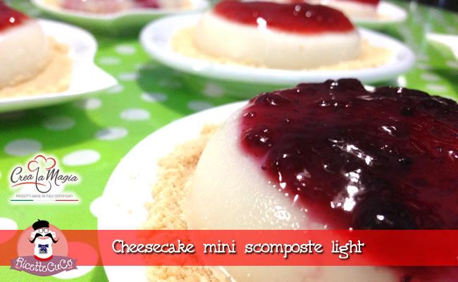 cheesecake mini monoporzione light dieta dolce stampo tortina crea la magia monsieur cuisine moulinex cuisine companion ricette cuco bimby ricettecuco