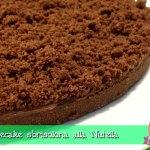 Cheesecake sbrisolona alla Nutella, torta fredda senza cottura senza gelatine, con il Cuisine Companion