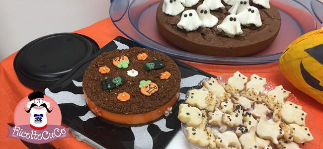 cheesecake halloween crema vaniglia cacao arancione torta fredda senza cottura senza colle di pesce gelatine monsieur cuisine moncu moulinex cuisine companion ricette cuco bimby