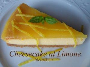 foto ricetta della cheesecake al limone