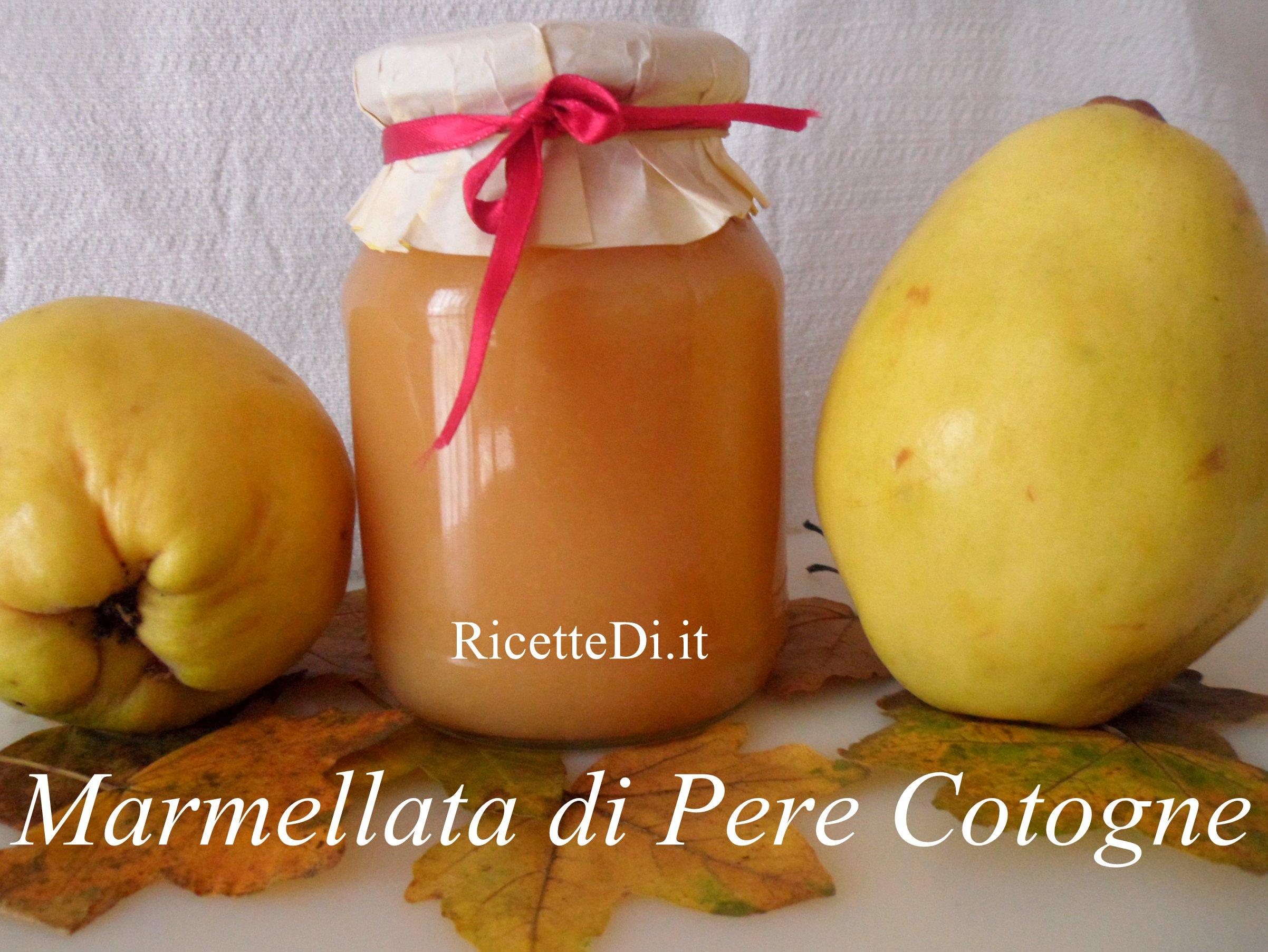Far Bollire Vasetti Marmellata marmellata di pere cotogne - ricettedi.it