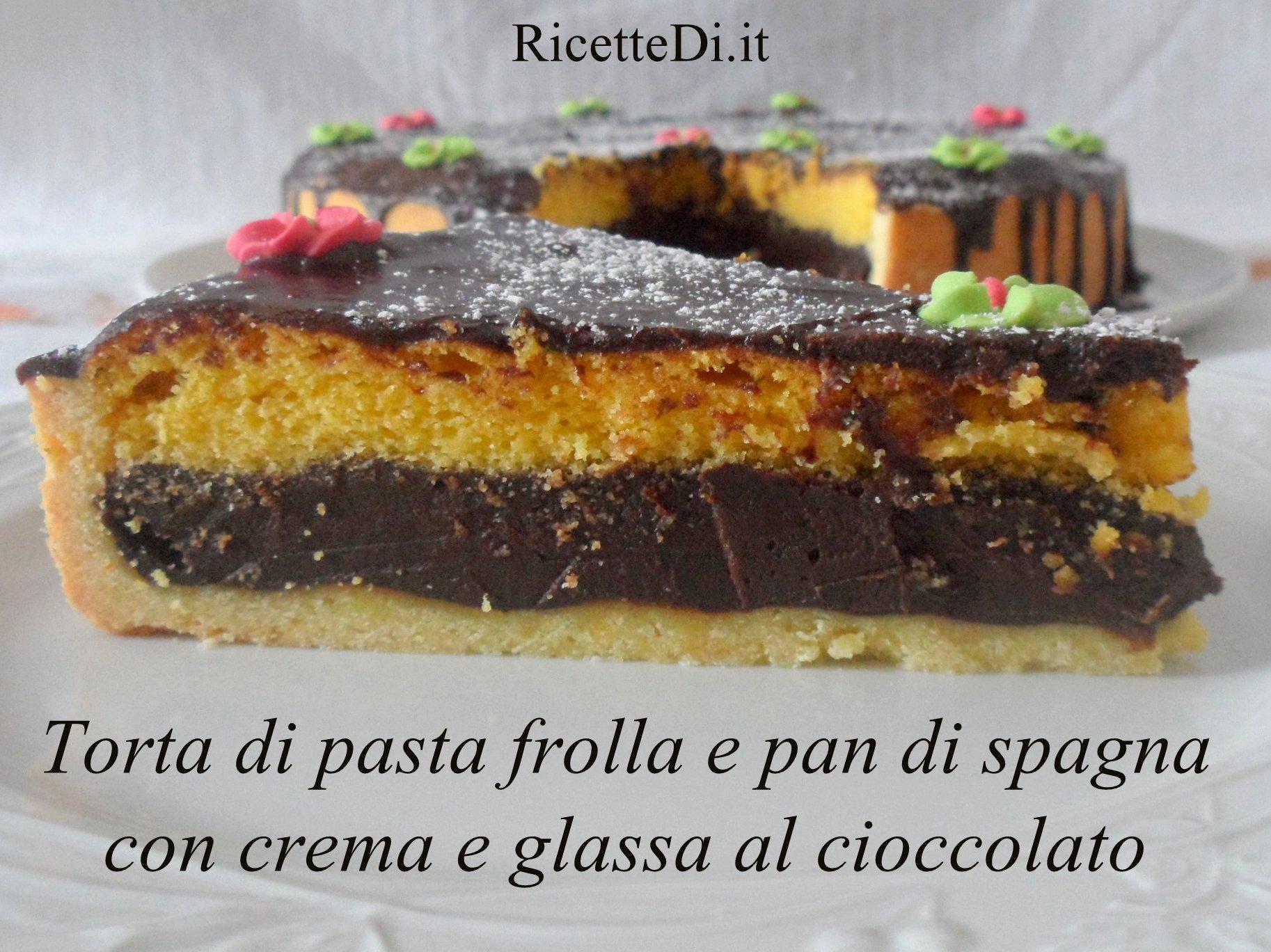 Super Torta di pasta frolla e pan di spagna, con crema al cioccolato  WG88
