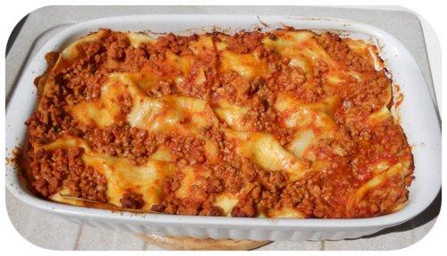 lasagne appena sfornate